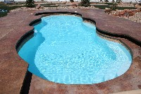 Mirage Fiberglass Pool in Liberty, KS